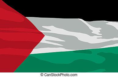 Vector flag of Palestine