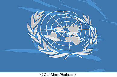 Vector flag of United Nations
