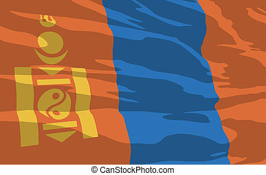 Vector flag of Mongolia