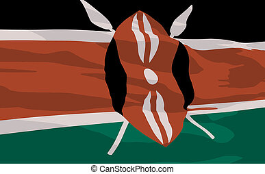 Vector flag of Kenya