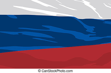 Vector flag of Russia