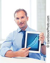 businessman with tablet pc