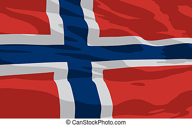 Vector flag of Norway