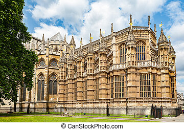 Westminster Abbey. London, England - The Henry VII Chapel at...