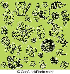 Flower doodle art of vector