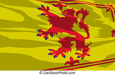 Vector flag of Scotland