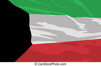 Vector flag of Kuwait