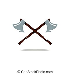 Vector Crosswise Two Axes Cartoon Illustration. - Two Axes...