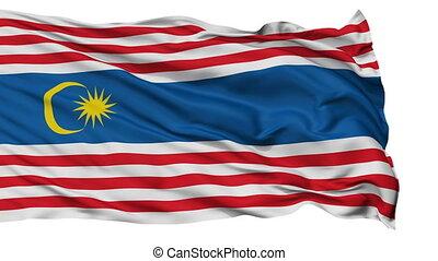 Kuala Lumpur City Isolated Waving Flag - Kuala Lumpur...