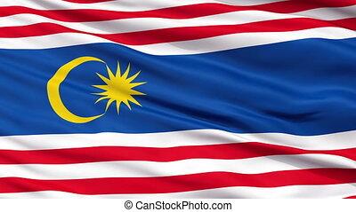 Kuala Lumpur City Close Up Waving Flag - Kuala Lumpur...