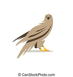 Vector Eagle Cartoon Illustration - Vector silhouette of the...