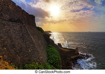 San Cristobal coastline - Beautiful view of the large outer...