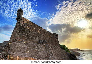 Fort San Cristobal - Beautiful view of the large outer wall...