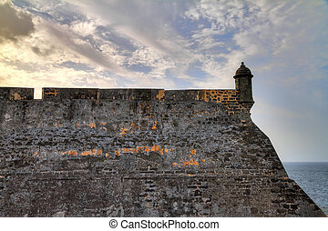 The wall of San Cristobal - Beautiful view of the large...