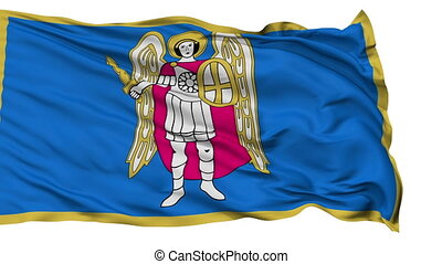 Kiev City Isolated Waving Flag - Kiev Capital City Flag of...