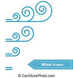 Vector Wind icons