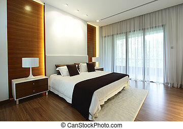 Modern bedroom - Interior view of a modern bedroom