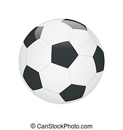 Classic soccer ball isolated on white background. Soccer ball icon.  Flat 3d vector illustration