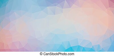 Blue Violet abstract polygonal pastel background - Blue and...