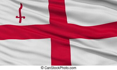 London City Close Up Waving Flag