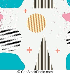 Seamless pattern in the Memphis style Memphis Seamless...