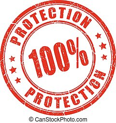 100 protection stamp
