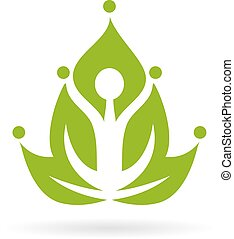 Green yoga meditation icon isolated on white background