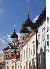 Alexander Nevsky Cathedral. Old city, Tallinn, Estonia.
