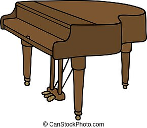 Classic grand piano - Hand drawing of a classic grand piano