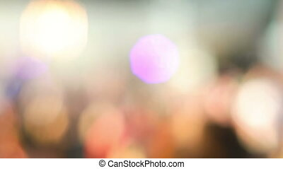Defocused Shot of Dancing People - People at musical...