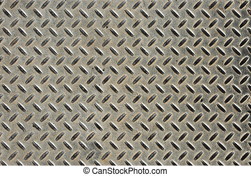 Abstract background texture of an industrial metal plate