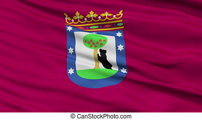 Madrid City Close Up Waving Flag - Madrid Capital City Flag...