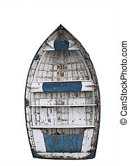 clinker boat - Old Clinker boat isolated with cutting-path...