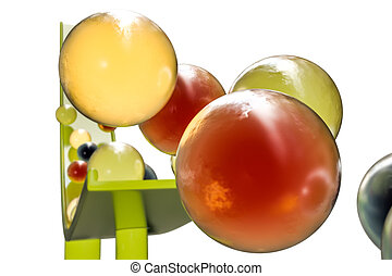 gumballs - 3d illustration of sweet gumballs isolated on...