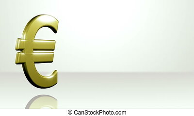Iconic Euro On White Stage - background animation for home...