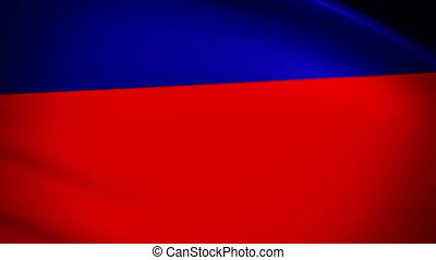 Waving Flag Haiti Punchy - National flag of Haiti waving in...