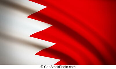 Waving Flag Bahrain Punchy - National flag of Bahrain waving...