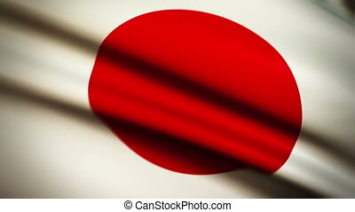 Waving Flag Japan Punchy - National flag of Japan waving in...