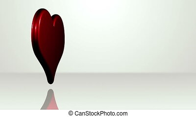 Iconic Heart On White Stage - background animation for home...