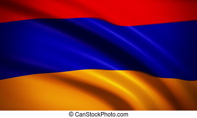 Waving Flag Armenia Punchy - National flag of Armenia waving...