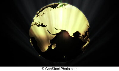 Golden Globe in Shine - background animation for home...