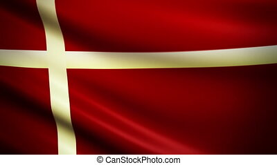 Waving Flag Denmark Punchy - National flag of Denmark waving...