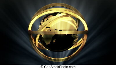 Golden Globe in Rotor Shine - background animation for home...