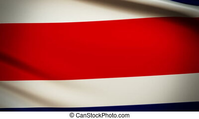 Waving Flag Costa Rica Punchy - National flag of Costa Rica...