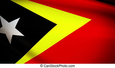 Waving Flag East Timor Punchy - National flag of East Timor...