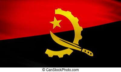 Waving Flag Angola Punchy - National flag of Angola waving...