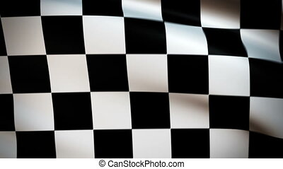 Waving Flag Checker Punchy - Start flag waving in the wind -...
