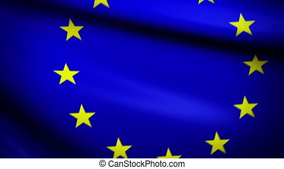 Waving Flag EU Punchy - National flag of European Union...