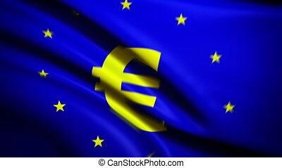 Waving Flag Euro Punchy - National flag of Eurepaean Unions...
