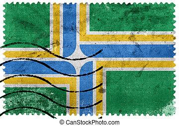 Flag of Portland, Oregon, old postage stamp